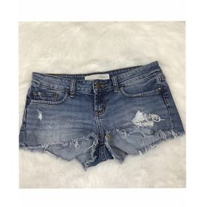 r jeans from Rubbish Destroyed Cutoff Shorts